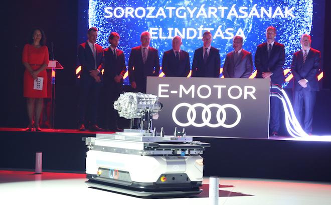 Audi: via alla produzione di serie dei motori elettrici in Ungheria