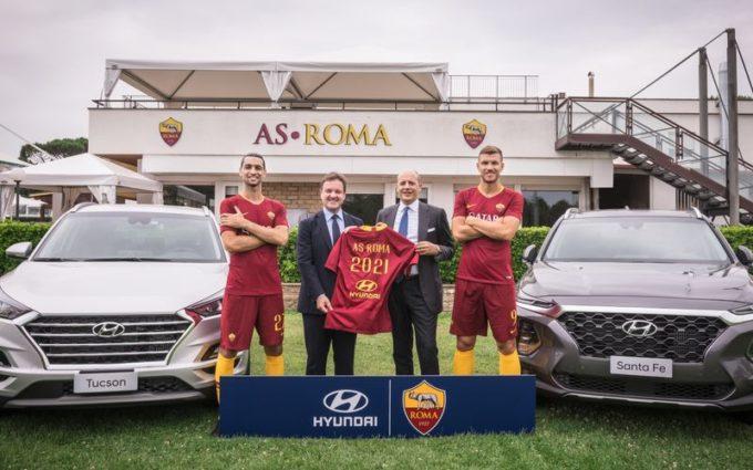 Hyundai debutta nel calcio italiano con l'AS Roma