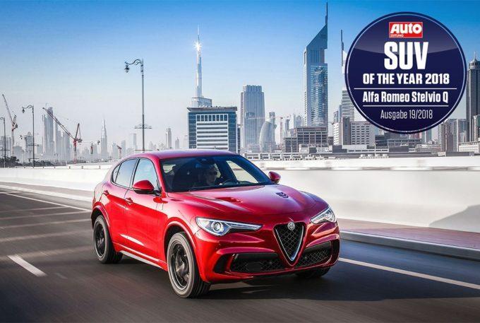 """Alfa Romeo Stelvio Quadrifoglio conquista la Germania: è SUV dell'anno secondo """"Auto Zeitung"""""""