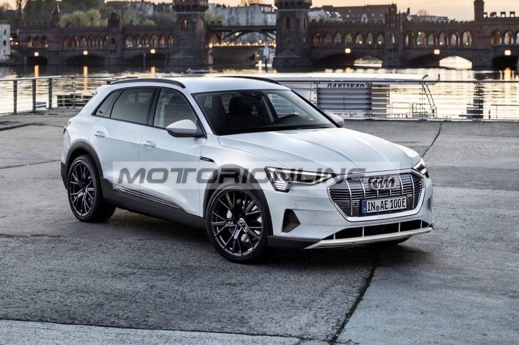 Audi e-tron: l'ipotesi stilistica del SUV 100% elettrico [RENDERING]
