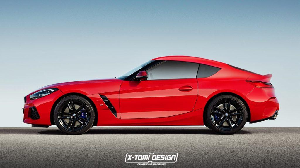 BMW Z4, ecco come sarebbe in versione coupé [RENDERING]