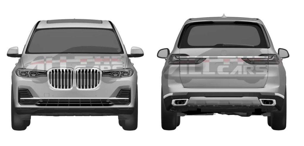 BMW X7: online i primi disegni dei brevetti grafici [FOTO]