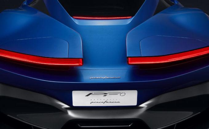Automobili Pininfarina PF0: prima immagine del posteriore della nuova hypercar elettrica