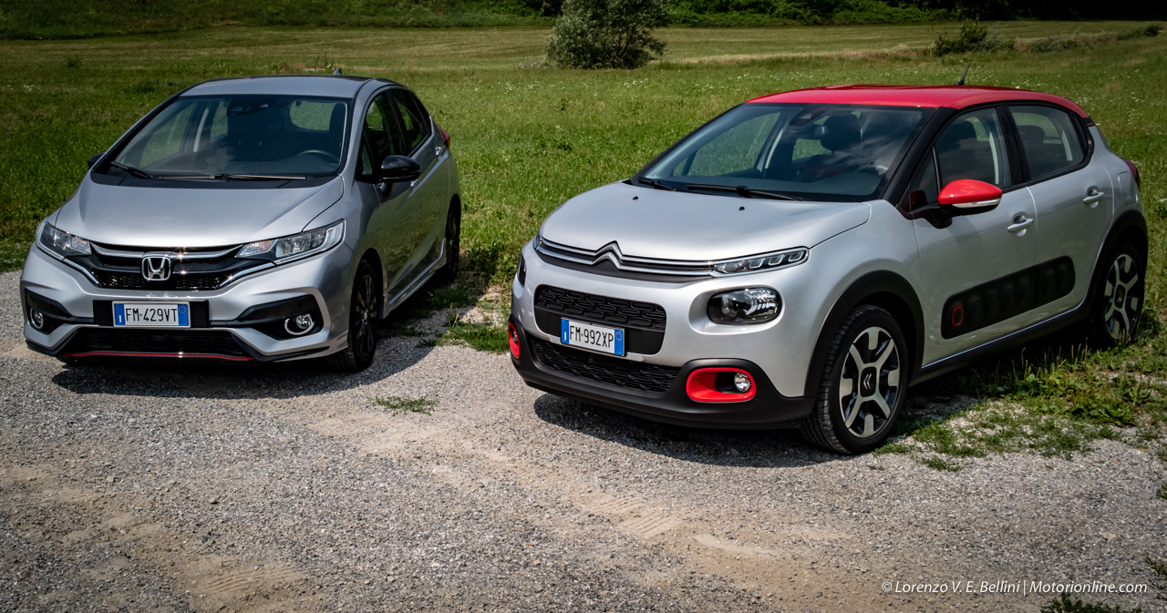 Honda Jazz Vs Citroen C3 Spiriti Cittadini A Confronto Video Prova