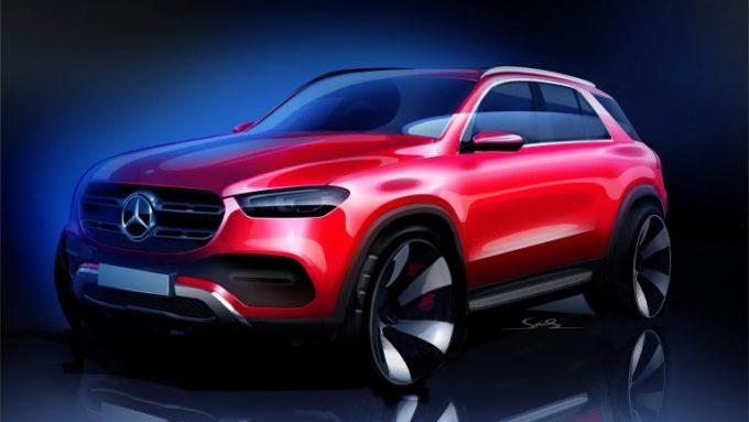 Mercedes GLE, rilasciato uno sketch design del nuovo SUV [TEASER]