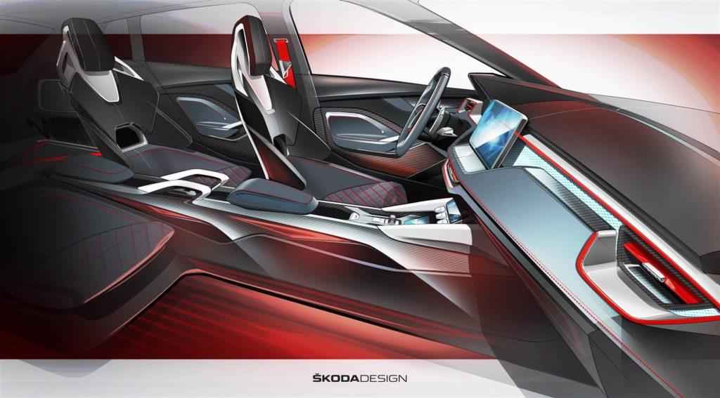 Skoda Vision RS Concept: anteprima sul look degli interni [TEASER]