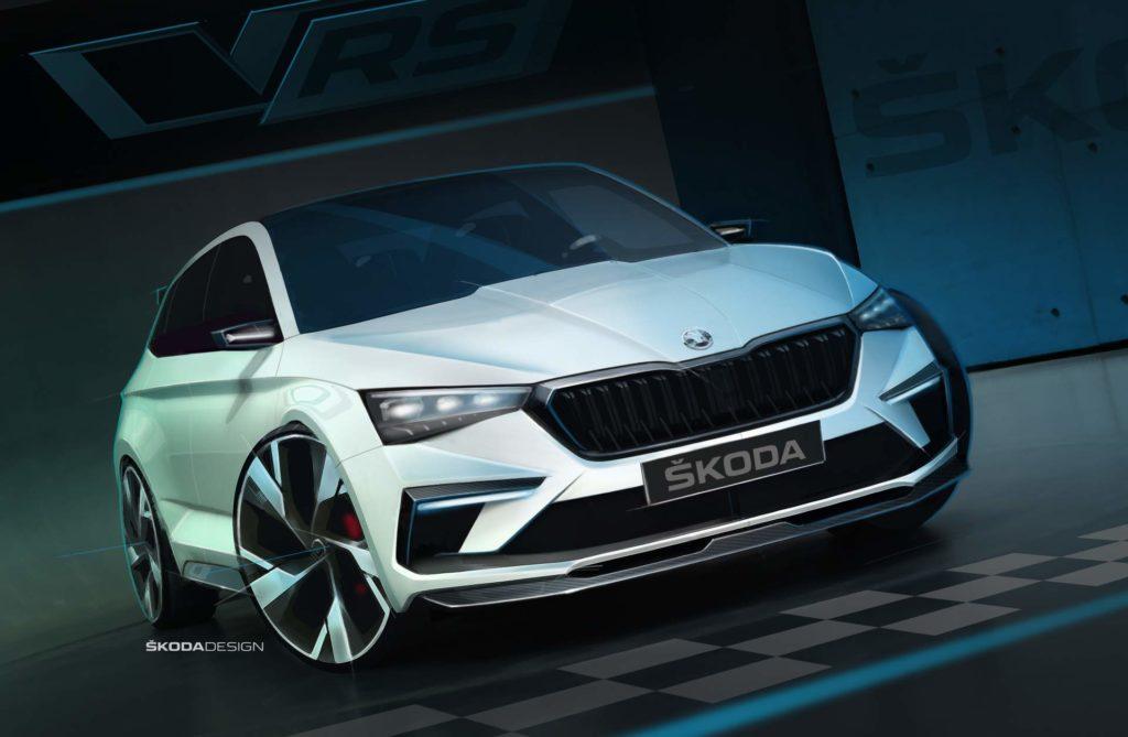 Skoda Vision RS Concept, spinta dall'ibrido plug-in da 245 CV [TEASER]