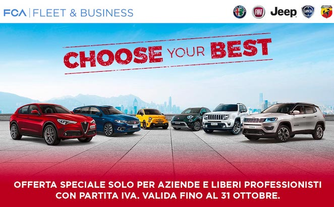 FCA Choose your Best: offerta per aziende e liberi professionisti