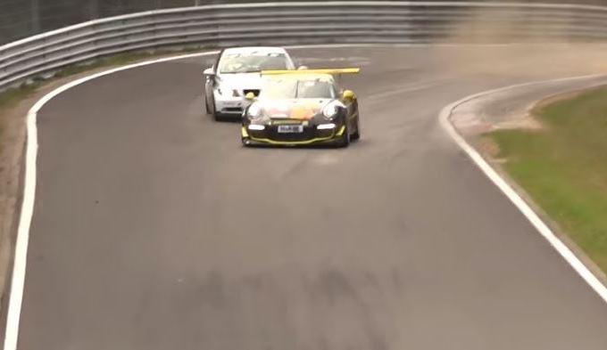 Porsche vs BMW: sorpasso da brividi al Nurburgring, incidente sfiorato [VIDEO]