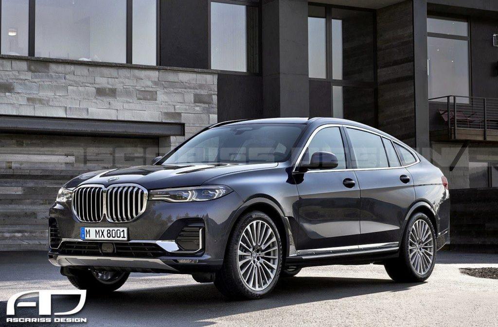 BMW X8, ipotesi stilistica del grande SUV dell'Elica [RENDERING]