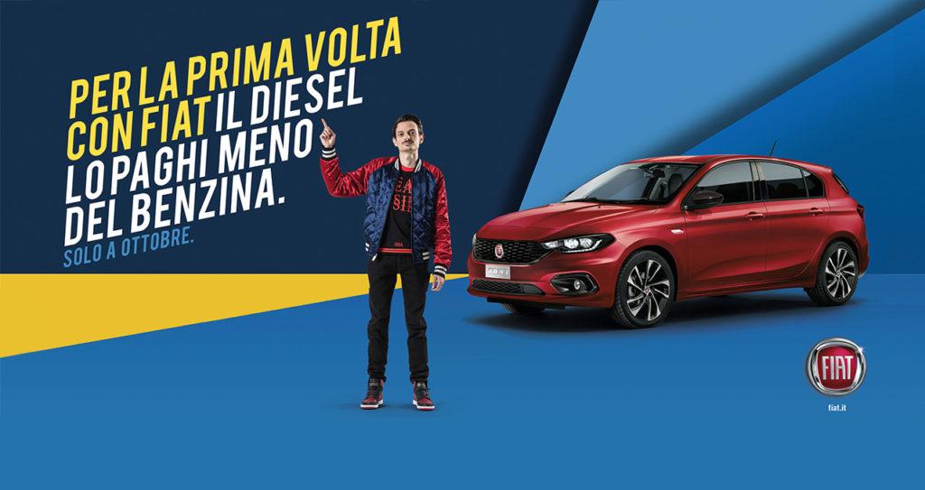 Fiat, per la prima volta il diesel costa meno del benzina