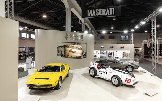 Maserati: tre icone del Tridente ad Auto e Moto d'Epoca 2018