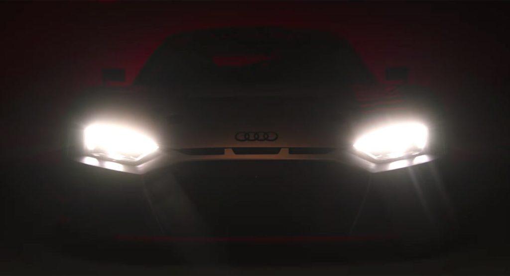 Audi R8, nuovo assaggio della variante da corsa [VIDEO TEASER]