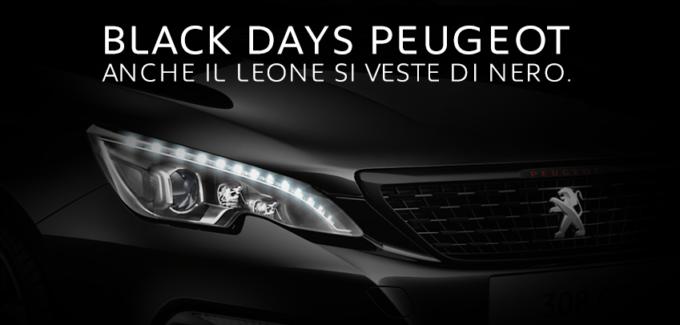 Peugeot partecipa al Black Friday con il week-end dei Black Days del Leone