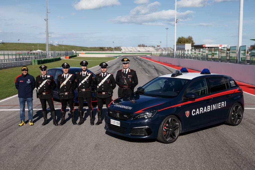 Collaborazione Peugeot e Carabinieri