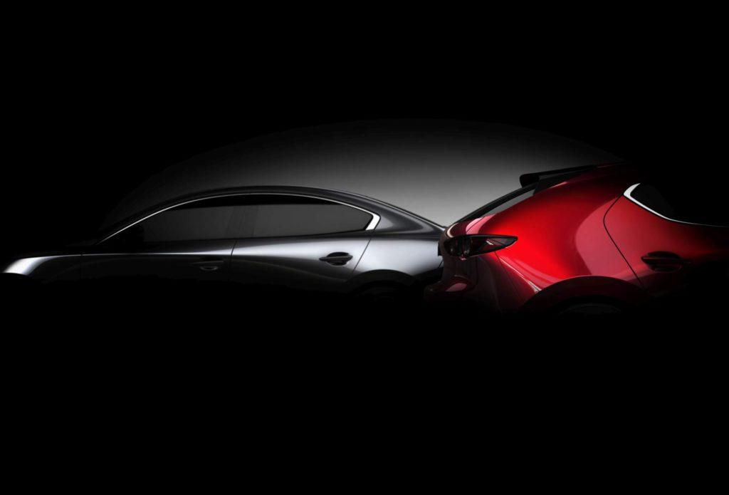 Nuova Mazda3 debutterà al Salone di Los Angeles 2018 [TEASER]