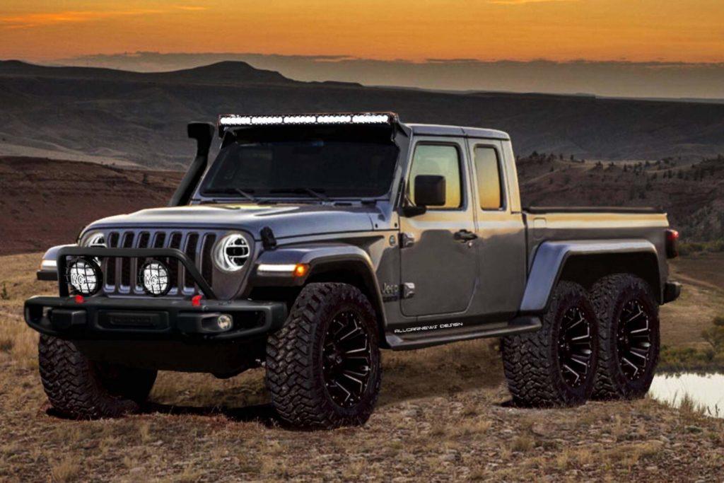 Jeep Gladiator 6×6: ipotizzando la versione a 6 ruote del nuovo pick-up [RENDERING]
