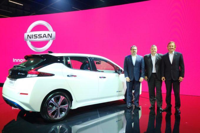 La Nissan LEAF elettrifica il Salone di San Paolo 2018