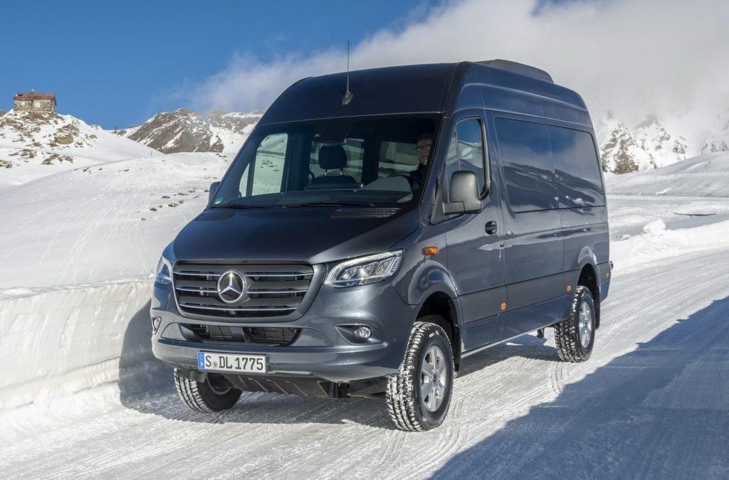 Mercedes Sprinter 4×4: arriva la trazione integrale sulla nuova generazione