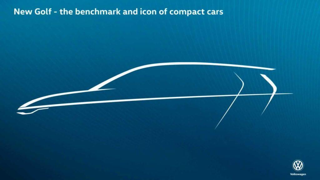 Volkswagen Golf: svelato il primo TEASER dell'ottava generazione