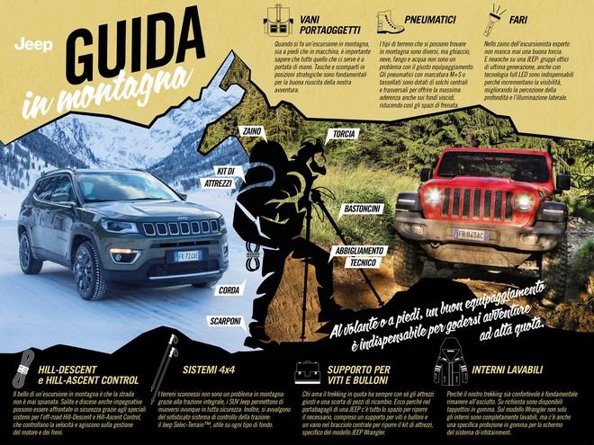 Jeep: l'equipaggiamento per andare in montagna