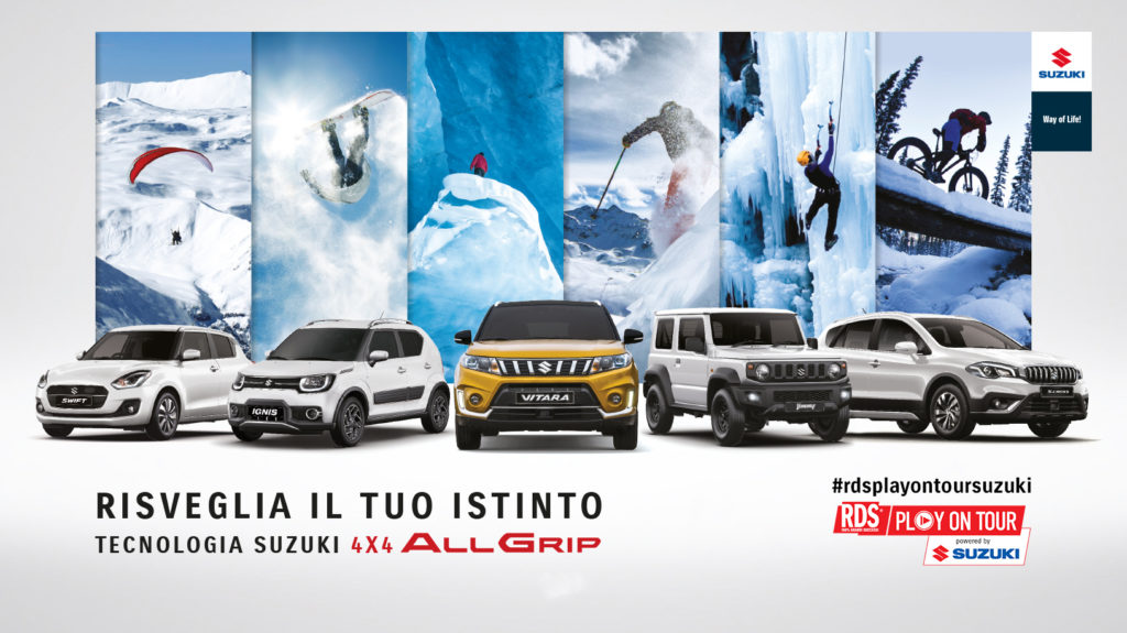Suzuki è sponsor dell'RDS Play On Tour Winter Edition 2019