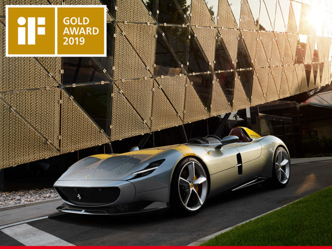 Ferrari Monza SP1: lo stile trionfa agli iF Design Awards 2019
