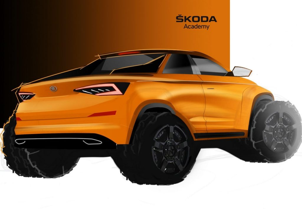 Skoda Kodiaq pick-up concept - Teaser