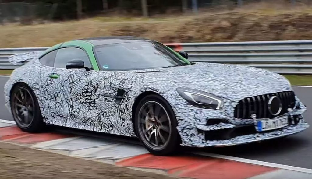Mercedes-AMG GT Black Series: un bolide avvistato al Nurburgring [VIDEO SPIA]