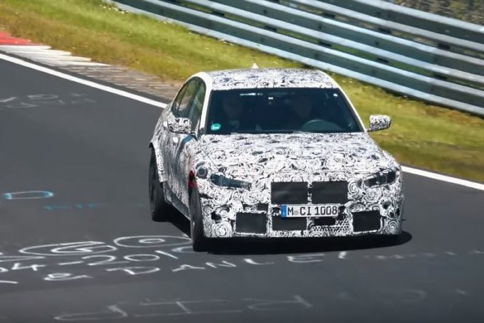 Nuova BMW M3: in pista si sente a casa [VIDEO SPIA]
