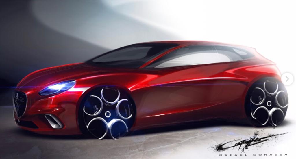 Alfa Romeo: una nuova berlina del Biscione immaginata così [RENDERING]