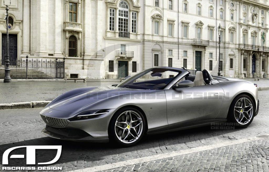 Ferrari Roma Spider: via il tetto dalla nuova coupé del Cavallino [RENDERING]