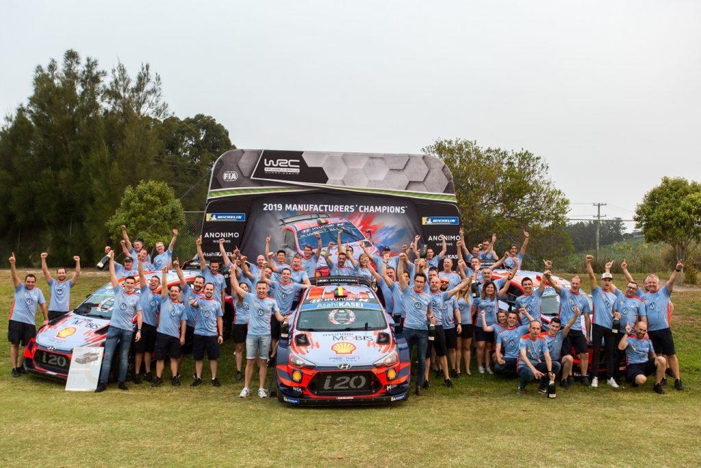 Hyundai Motorsport celebra il suo primo titolo nel Mondiale Rally