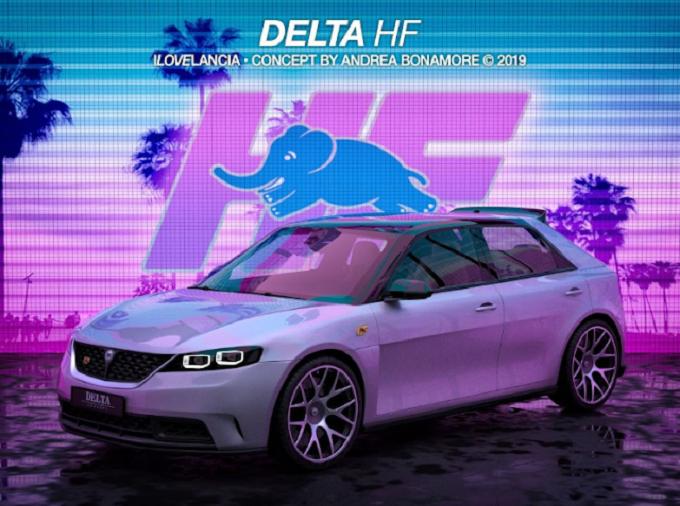 Lancia Delta: moderna reinterpretazione stilistica di un'auto iconica [RENDERING]