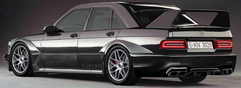 Mercedes 190E Evo II: un classico del passato in versione moderna [RENDERING]