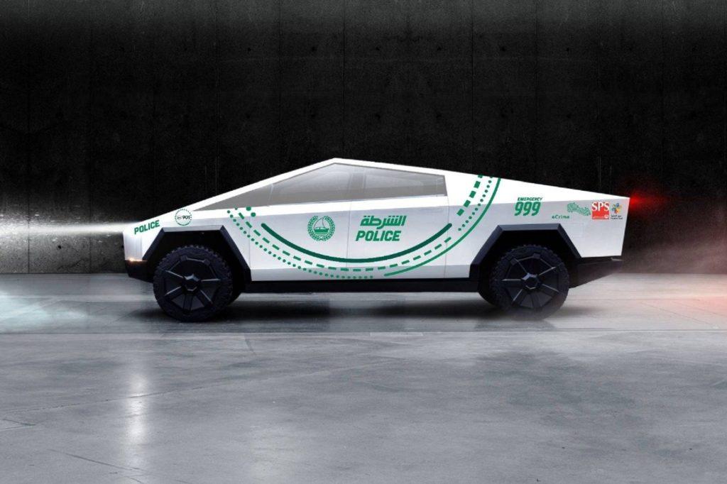 Tesla Cybertruck: il chiacchierato pick-up conquista anche la polizia di Dubai