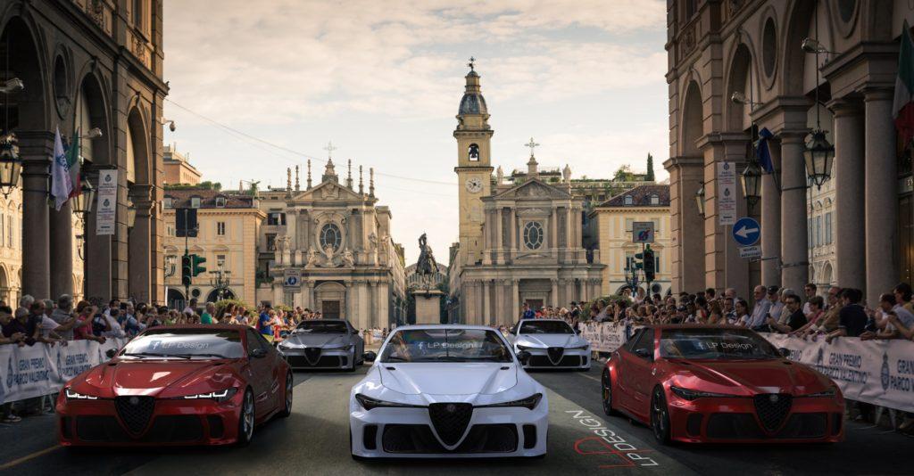 Alfa Romeo GTV: l'immaginaria parata da sogno al Parco Valentino di Torino [RENDERING]