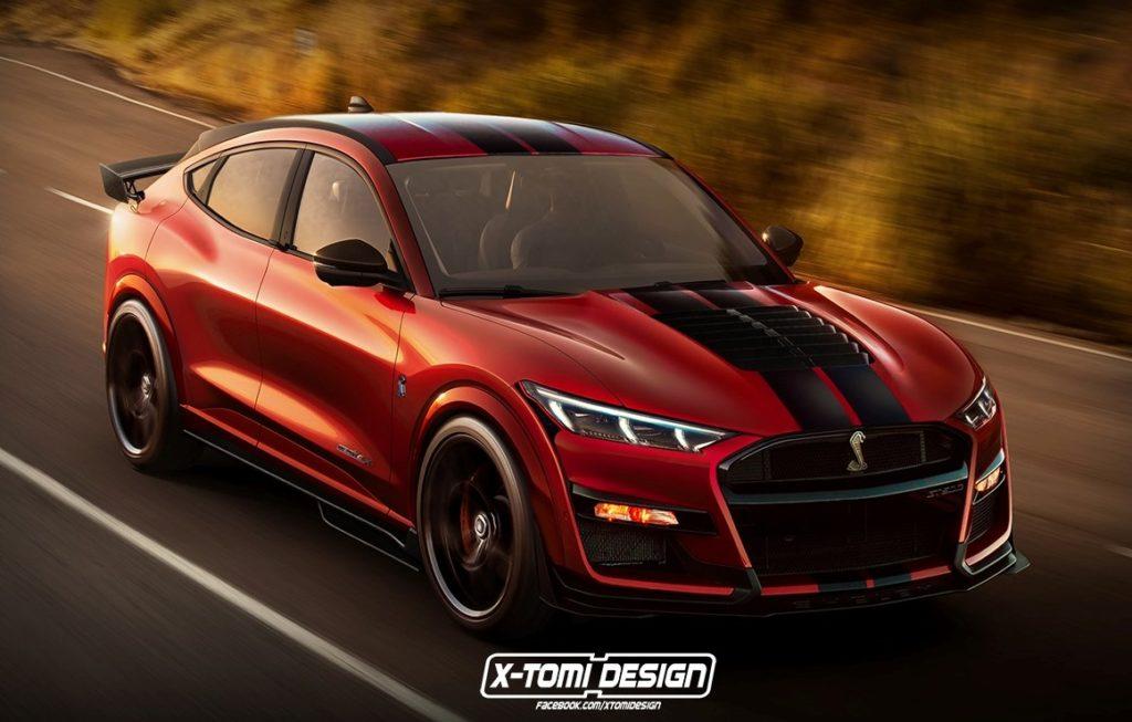 Ford Mustang Mach-E Shelby GT500: l'idea che aizza la sportività del SUV elettrico [RENDERING]