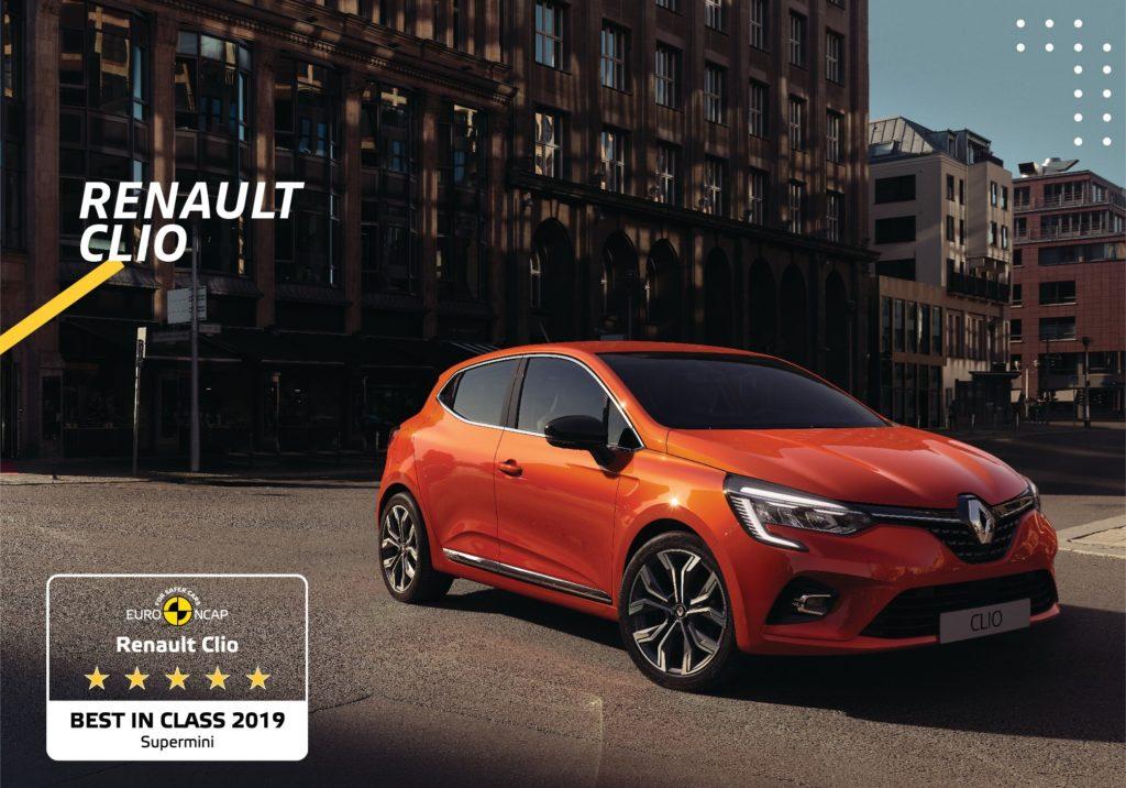 Nuova Renault Clio eletta Best in Class 2019 Euro NCAP tra le compatte