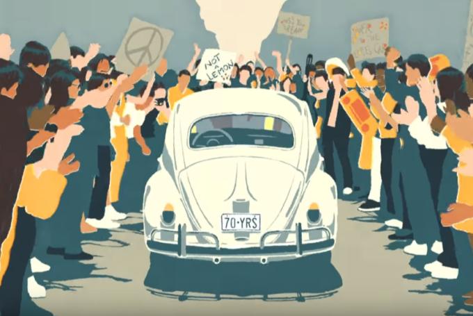Volkswagen Maggiolino: ultimo saluto con un emozionante spot animato [VIDEO]