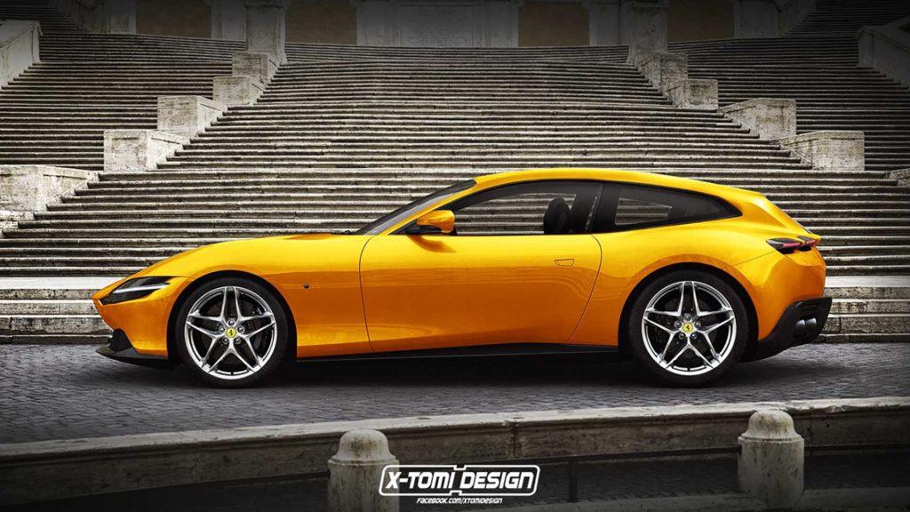 Ferrari Roma: look buono per la trasformazione in Shooting Brake o Cabrio [RENDERING]