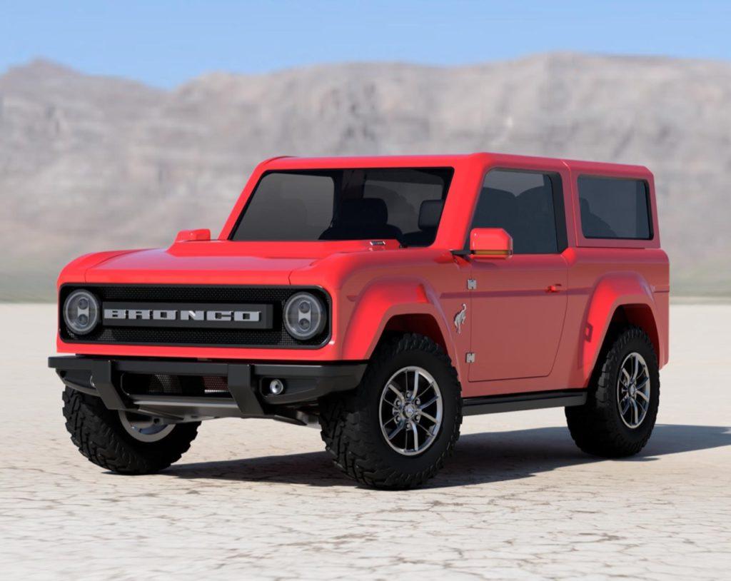 Nuovo Ford Bronco 2021, immaginato il piccolo 4×4 anti-Wrangler [RENDERING]
