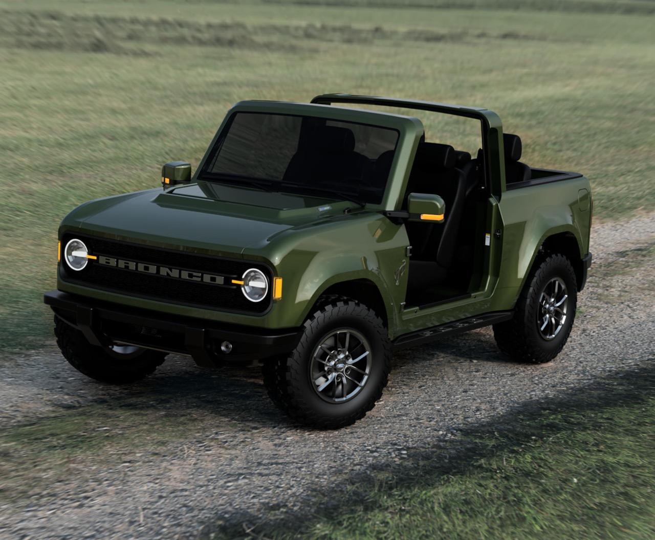 Nuovo Ford Bronco 2021 Immaginato Il Piccolo 4 4 Anti Wrangler Rendering