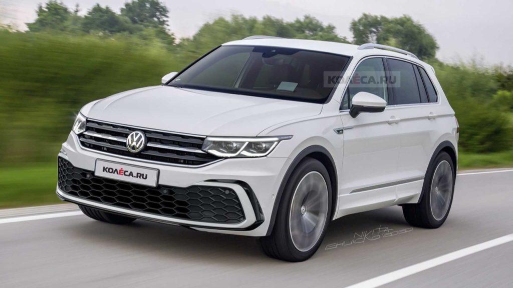 Nuova Volkswagen Tiguan, il fortunato SUV si rinnoverà nel 2021 [RENDERING]