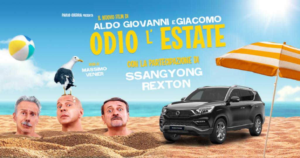 """Ssangyong Rexton, protagonista di """"Odio l'estate"""", il nuovo film di Aldo, Giovanni e Giacomo"""