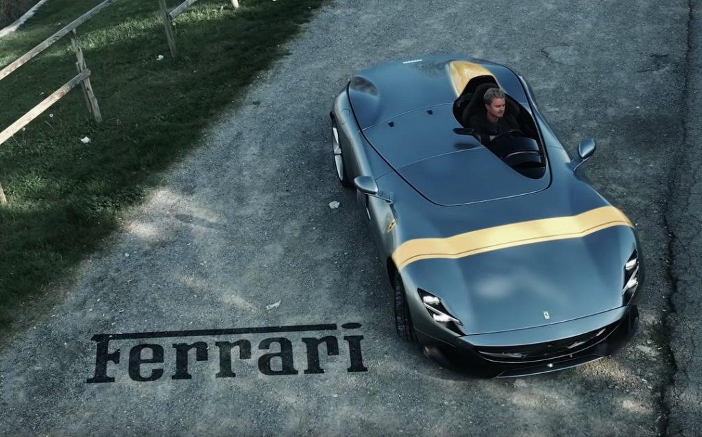 Ferrari Monza SP1: Nico Rosberg al volante a Fiorano [VIDEO]