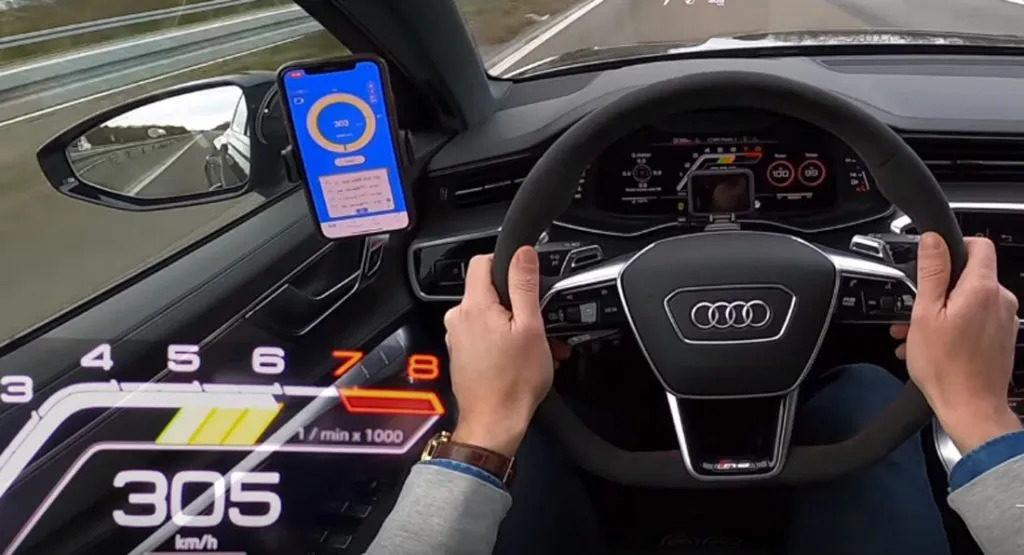 Audi RS6 2020: più di 300 km/h sull'Autobahn, l'autostrada tedesca