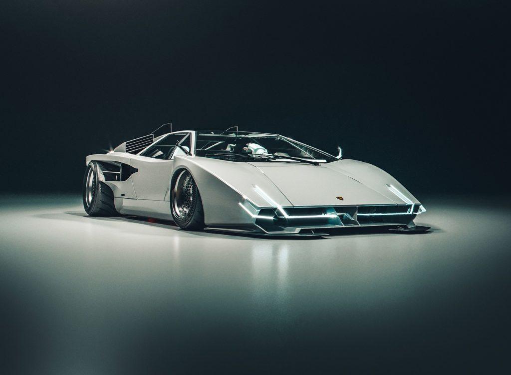 Lamborghini Countach moderna 2020 - Rendering