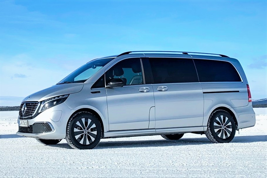 Mercedes EQV winter test