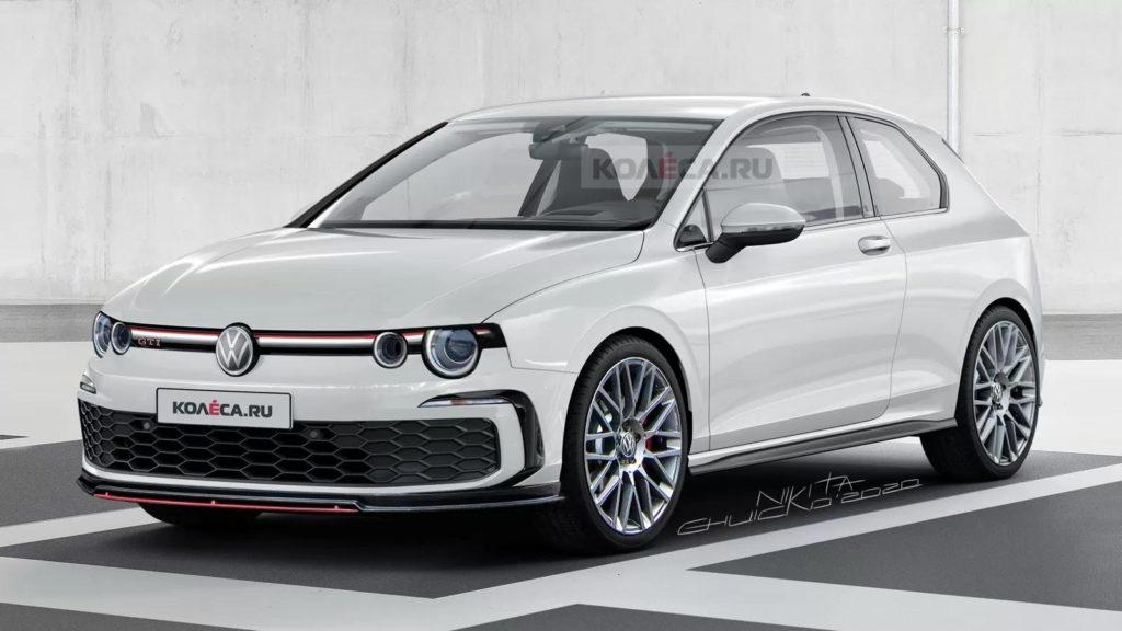 Nuova Volkswagen Golf GTI con spunti stilistici retrò [RENDERING]